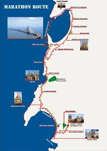 2012 Mumbai Marathon route map