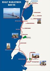 2012 Mumbai Half Marathon route