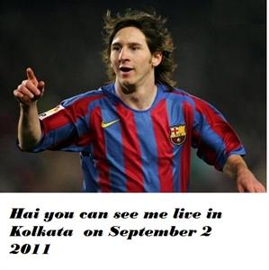 Lionel messi in Kolkata