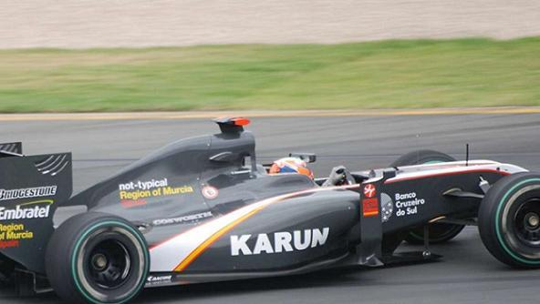Karun Chandhok On Race Circuit