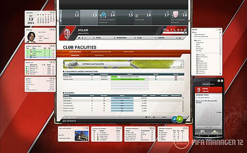 FIFA Manager 12 new features club facilities