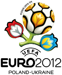 Exciting logo of Euro cup football 2012
