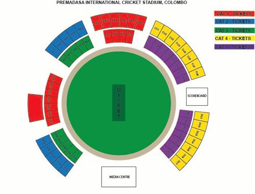 Premadasa Stadium T20 Venue layout