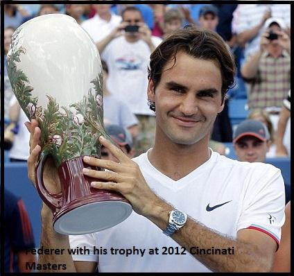 Federer with his trophy